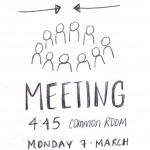 Sketchnote: flyer for meeting
